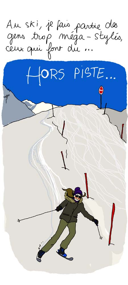 Skieuse hors piste