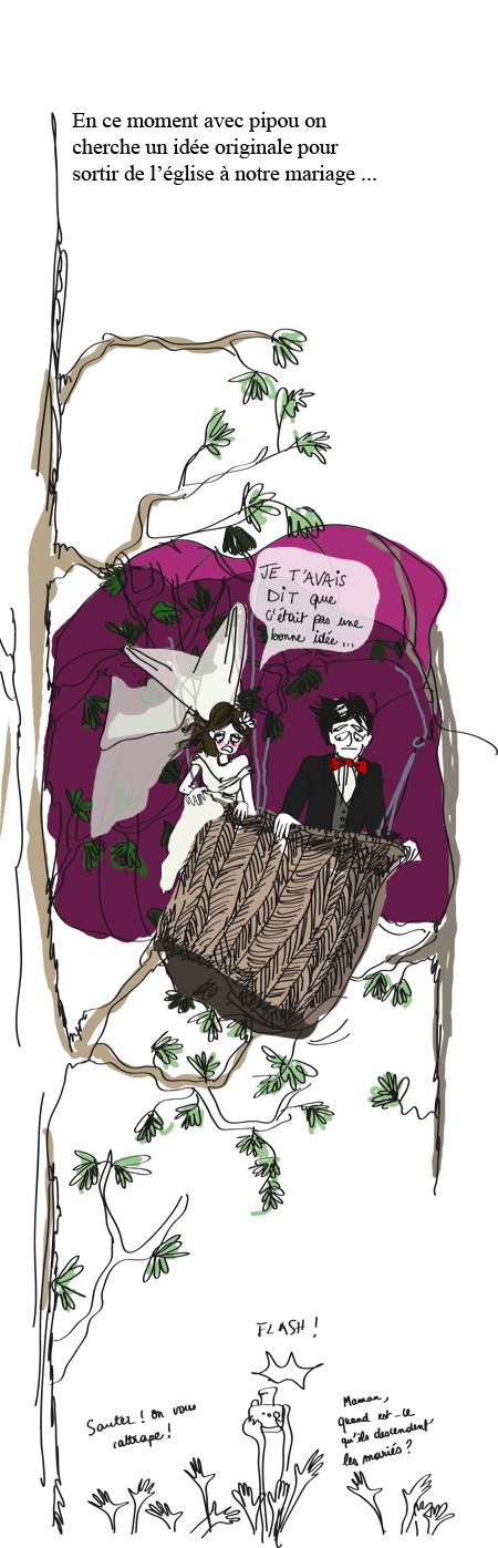 Montgolfière mariage