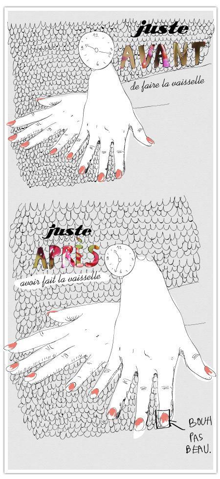 Vernis à ongles vaisselle